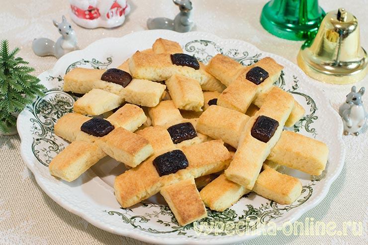 Печенье Кресты на Крещение – рецепт на варёных желтках