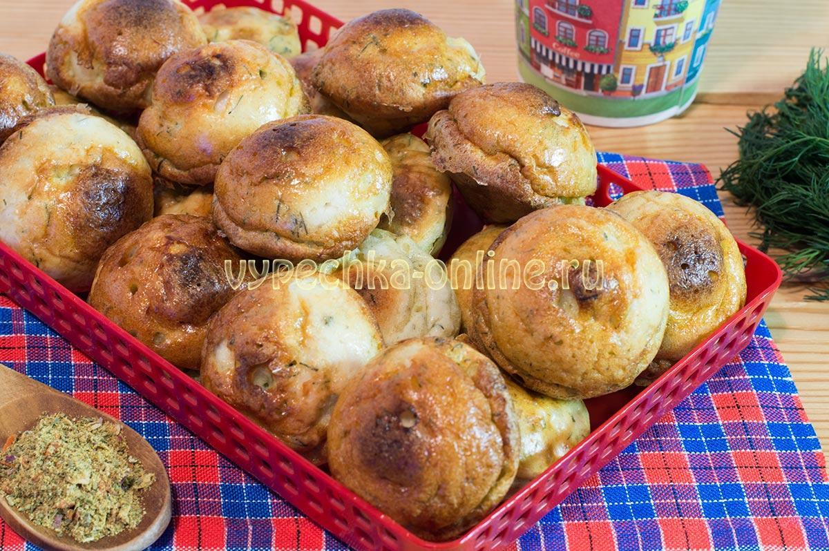Куриные кексы в формочках в духовке – рецепт с фото