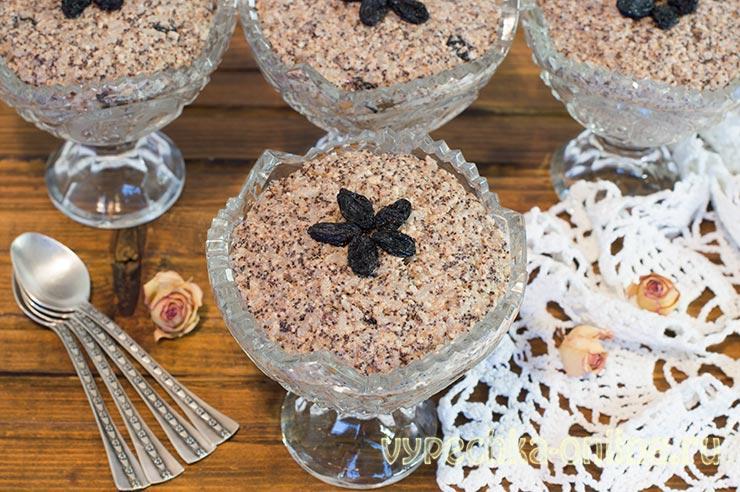 Кутья с маком и мёдом, изюмом, орехами из риса – рецепт с фото