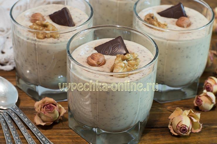 Десерт из творога и варёной сгущёнки без выпечки