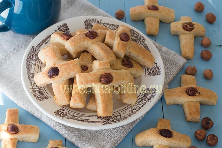 Печенье Крестики рецепт с фото