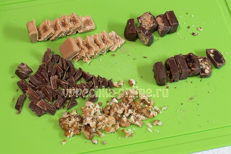 Конфеты, шоколад, орехи