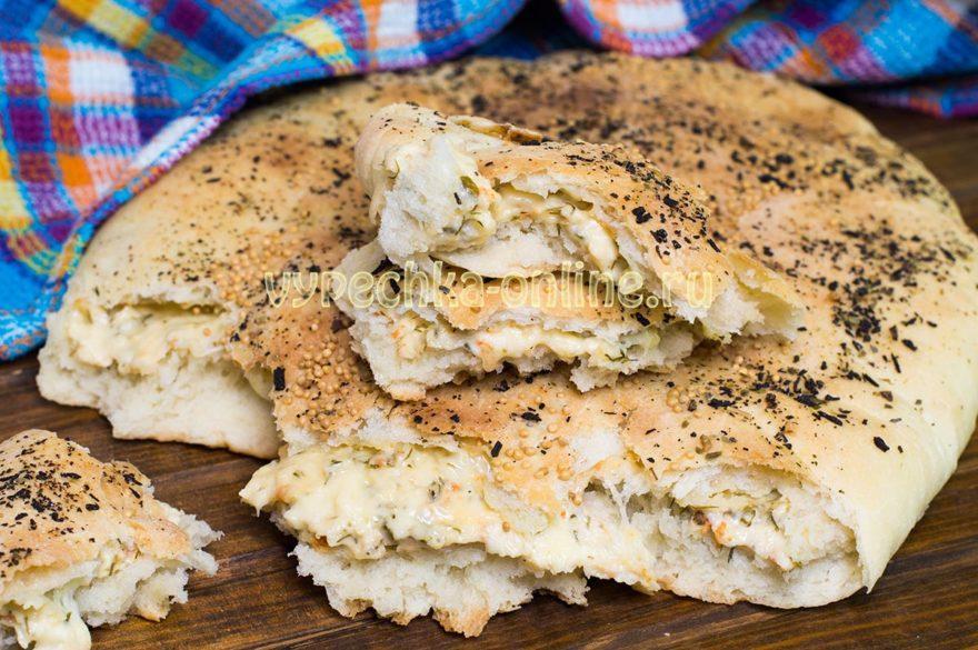 Осетинский пирог с сыром и зеленью в духовке