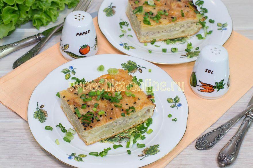 Заливной пирог с фаршем на молоке в духовке – рецепт с фото и видео