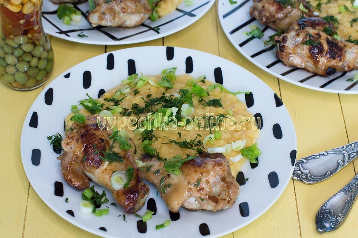 Курица в соевом соусе, с мёдом и чесноком