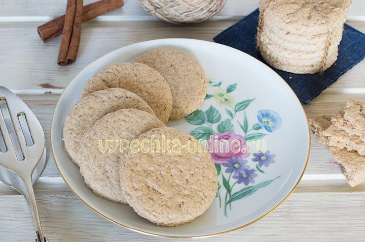 Овсяное печенье из овсяной муки на скорую руку