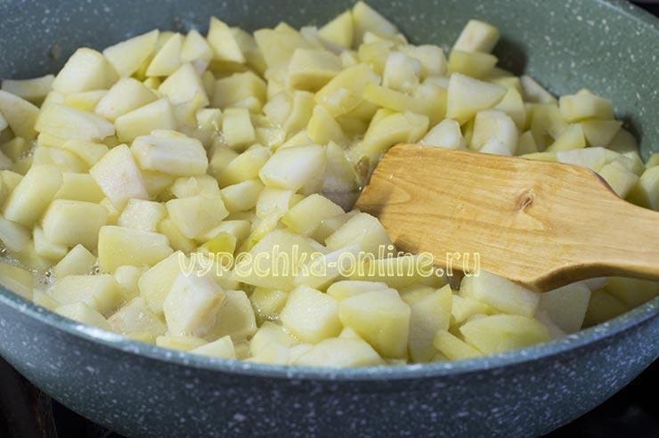 Приготовление яблочной начинки