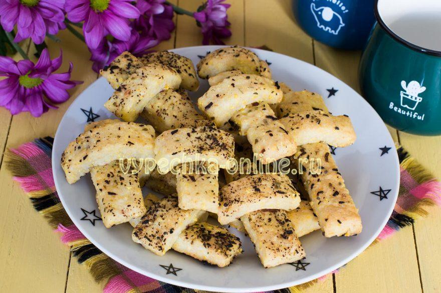 Постные Кресты несладкое печенье