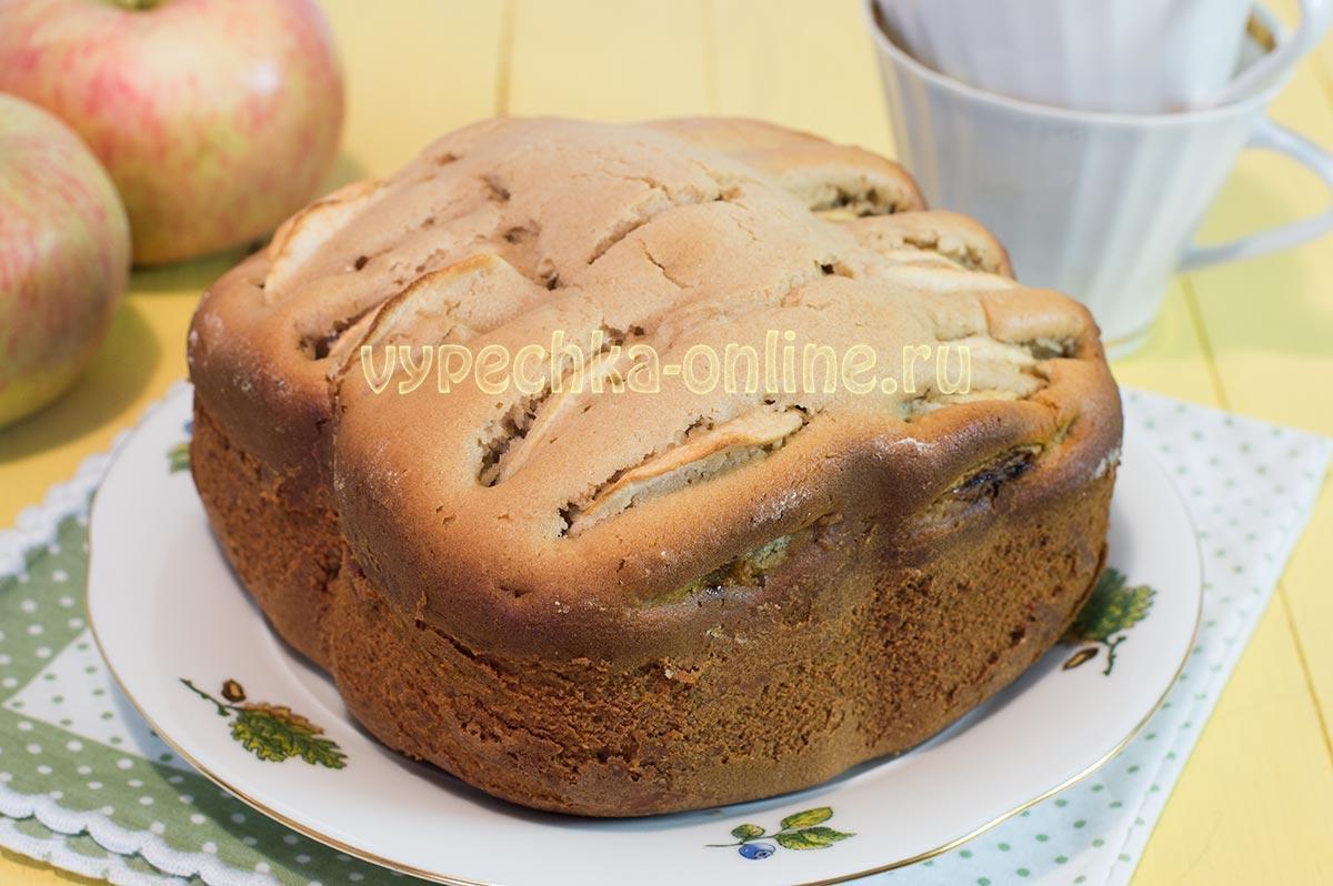 Яблочный пирог в хлебопечке рецепт простой и вкусный