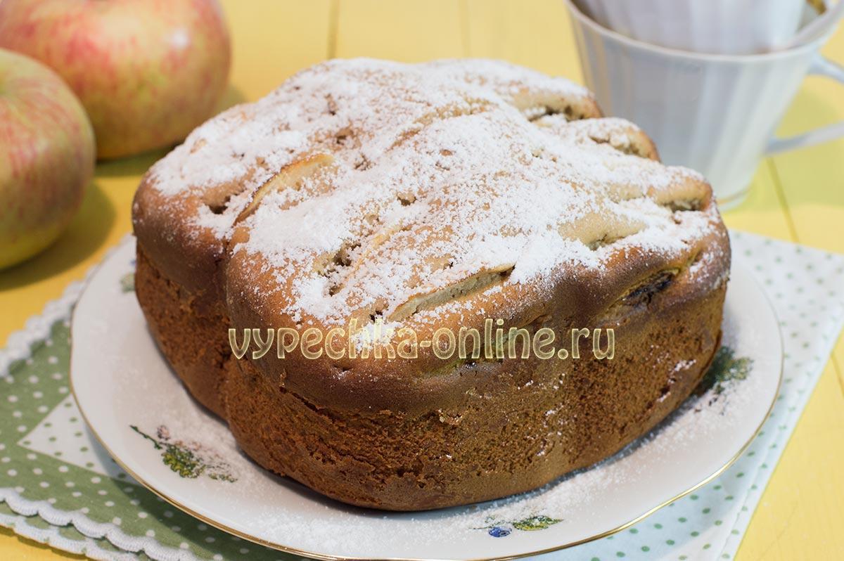 Пирог с яблоками в хлебопечке рецепт из ржаной муки