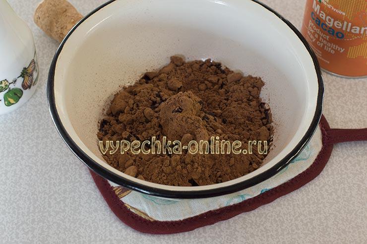 Какао, растительное масло
