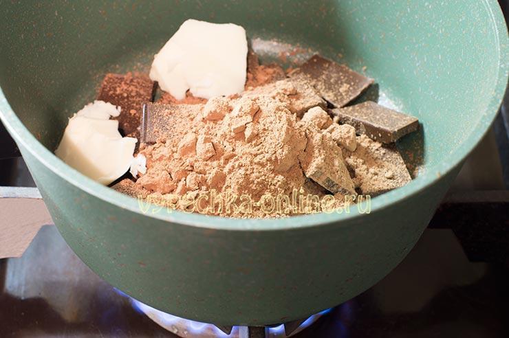 Шоколад, сливочное масло, какао