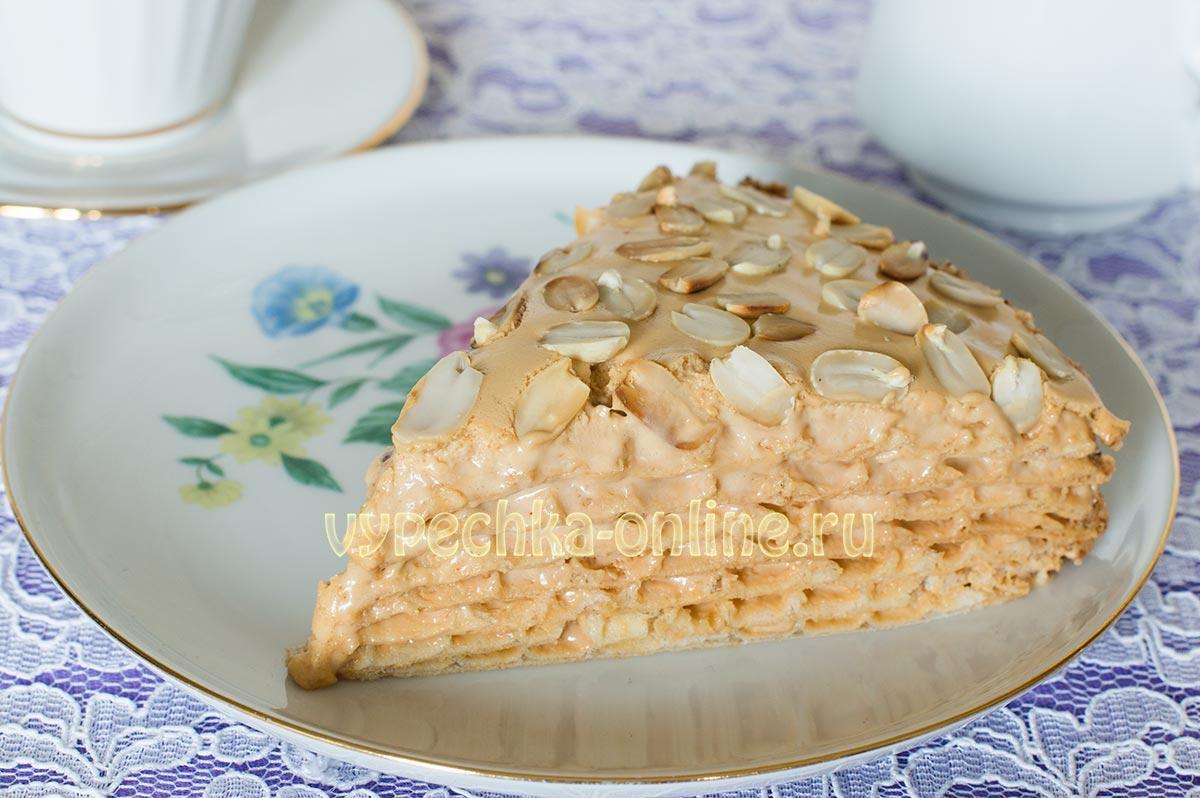 Торт из вафельных коржей купленных в магазине рецепт